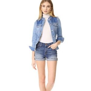 Madewell Collarless Denim Jacket